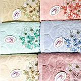 Рушники Квіти об'ємні, із натуральної бавовни, розмір 50х100 см, 95/105 грн (ціна за 1 шт +10 грн), фото 3