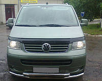 Передня захист ( подвійна дуга) для VW T5/ multivan (2010- ), вуса фольксваген т6, нерж, d-60