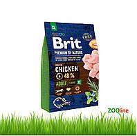 Сухой корм Брит премиум для собак крупных пород Premium Dog Adult XL 15кг