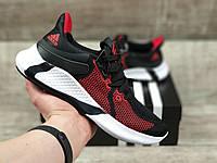 Женские летние кроссовки Adidas Edge XT черно красные с белым в стиле Адидас, фото 1