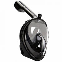 Маска для плавания FREE BREATH с креплением под камеру L XL Черная FB-63, КОД: 718759