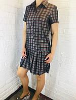 Платье женское фиолетовое Клетка S.M.L.XL ОПТ