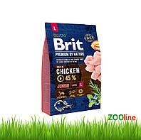 Сухой Корм для щенков крупных пород  Брит премиум Brit Premium Dog Junior L 15кг