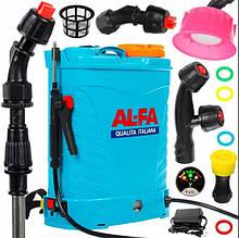 Опрыскиватель аккумуляторный AL-FA 12 ампер (16 л) (ITALIYA) - Садовий опрыскуватель