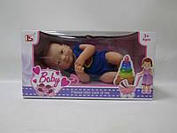 Кукла-пупс 14 см LS1401B новорожденный с аксес.распак.кор.37*15*19 ш.к./36/(LS1401B)
