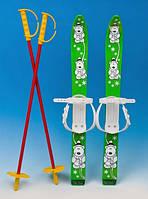 Лыжи пластиковые с палками Marmat 70 см (MD)