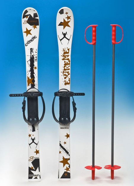 Лыжи пластиковые с палками Marmat 90 см (MD)