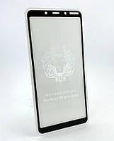 Nokia 3.1 Plus защитное стекло Avantis на телефон противоударное 5D Full Glue Black черное