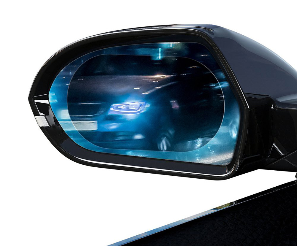 Пленка Анти-дождь для зеркала Baseus Овал 2шт. 150х100 мм (SGFY-D02)