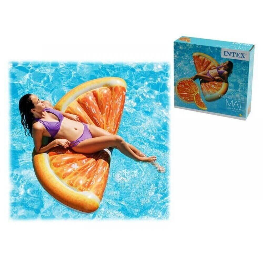 Надувной пляжный матрас Intex «Долька Апельсина», оранжевый, 178 х 85 см 58763