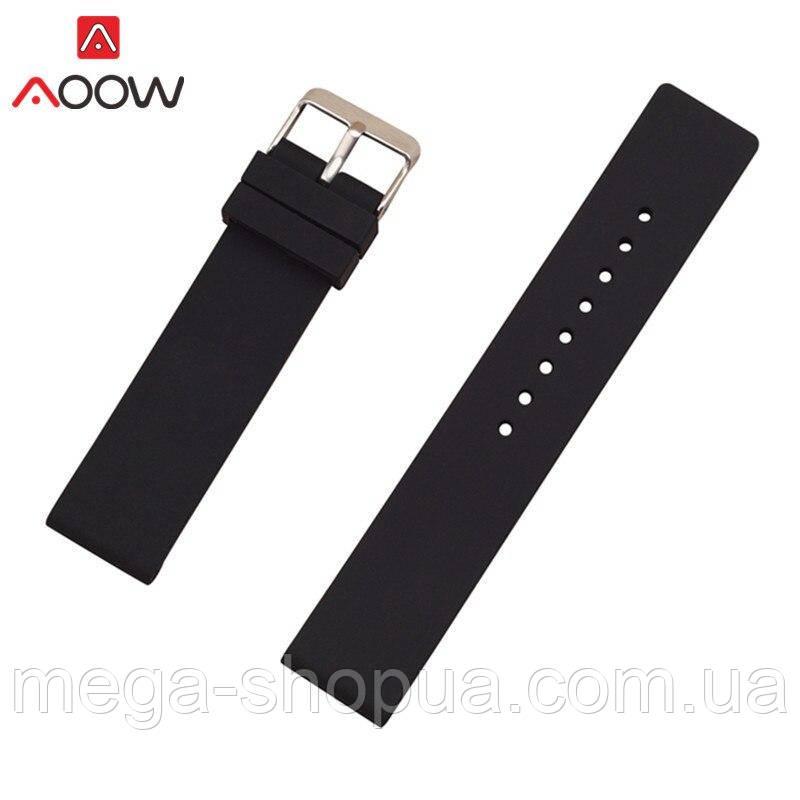 Ремешок силиконовый для смарт-часов 18 мм Smart Bracelet Silicone Black