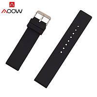 Ремешок силиконовый для смарт-часов 18 мм Smart Bracelet Silicone Black, фото 1