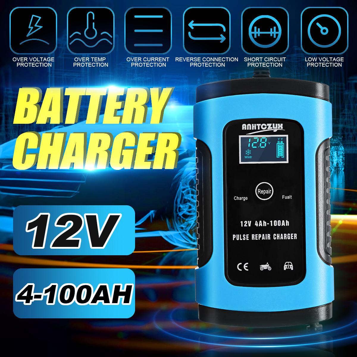 Автоматичне SMART зарядний пристрій авто акумулятора 12в авто зарядка акб