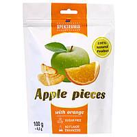 Яблучні скибочки сушені з апельсином Apple Pieces, 100 г, фото 1