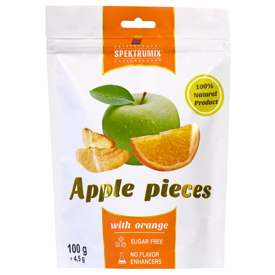 Яблучні скибочки сушені з апельсином Apple Pieces, 100 г