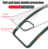 Чехол бампер soft-touch для Xiaomi Redmi Note 8 Pro Цвет чехла тёмно-синий, кнопки салатовые, фото 2