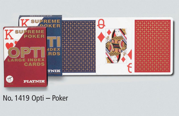 "Карти ""Opti Poker"", 2-ма великими індексами 55 карт (шт.) 1419"