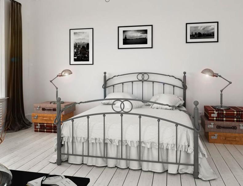 Кровать металлическая кованная Тоскана / Toskana двуспальная, фото 1