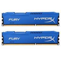 Модуль памяті для компютера DDR3 16Gb (2x8GB) 1600 MHz HyperX Fury Fury Blu Kingston (HX316C10FK2/16)