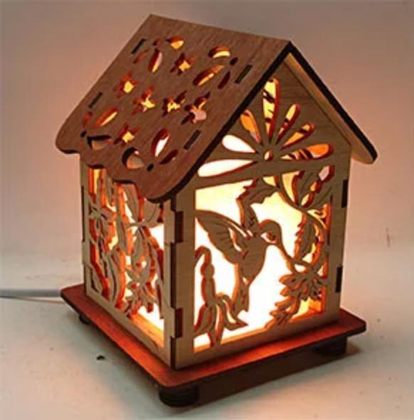 Соляной светильник Дом куб калибри