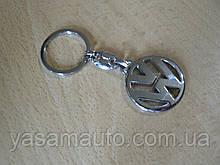 Брелок металлический простой Volkswagen логотип эмблема Волксваген автомобильный на авто ключи