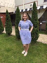 Платье-рубашка Оливия синий, 62