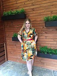 Платье-рубашка Оливия тропик 2, 62
