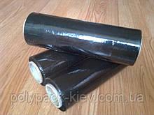 Стрейч плівка 20 мкм*250 мм*150 м чорна, чорна стрейч плівка пакувальна, купити чорну стрейч плівку Київ