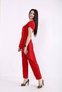 / Размер 42-74 / Женский весенне-летний комплект брюки и блузка / 01462 цвет Красный, фото 3