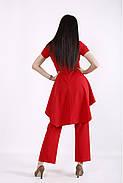 / Размер 42-74 / Женский весенне-летний комплект брюки и блузка / 01462 цвет Красный, фото 2