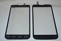 Оригинальный тачскрин / сенсор (сенсорное стекло) для LG Optimus L90 Dual SIM D410 REV 3 (черный цвет) + СКОТЧ