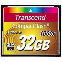 Карта памяті Transcend 32Gb Compact Flash 1000x (TS32GCF1000)