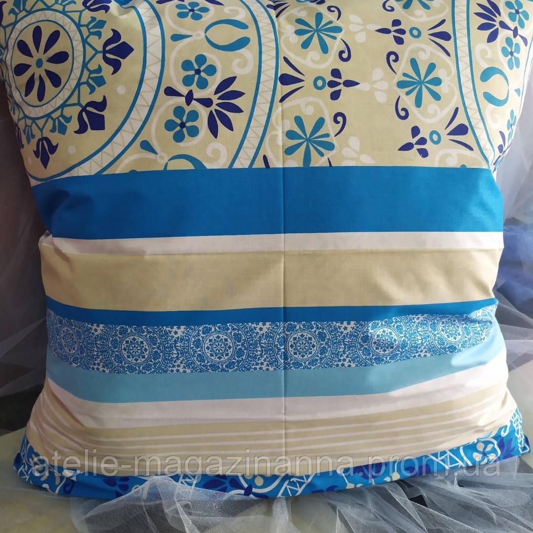 Наволочка на подушку из бязи 70*70 голубая
