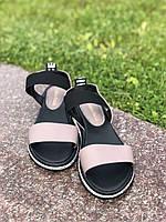 Женские босоножки капучино сандалии кожаные