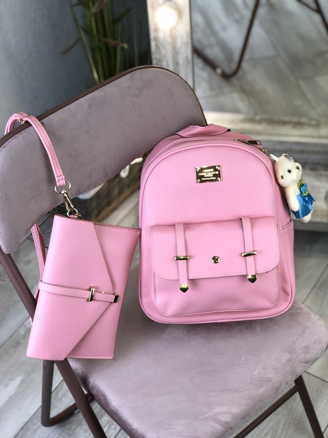 Жіночий рюкзак рожевий
