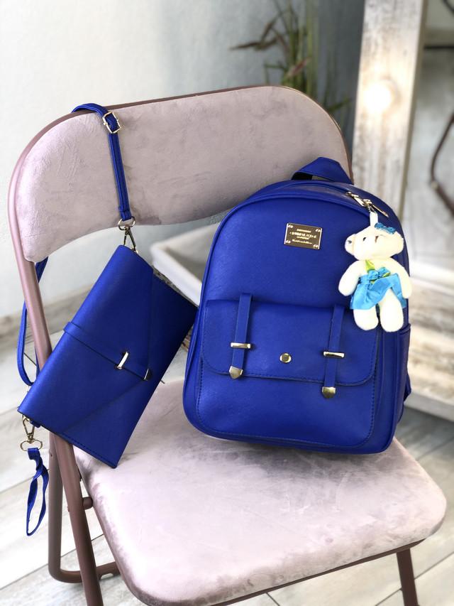 Жіночий рюкзак синій