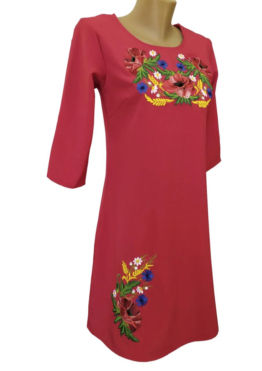 Женское летнее вышитое платье размер 42 44 46 48