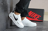 Кроссовки мужские Nike Air Force  в стиле Найк Аир Форс, натуральная кожа код SD-8191. Белые