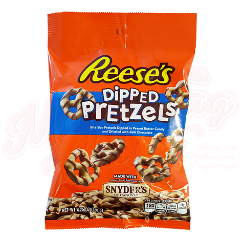 Reese's Peanut Butter Dipped Pretzels, 120 г, фото 2