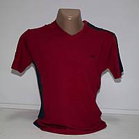 Мужская бордовая футболка Турция т.м. Piyera P19
