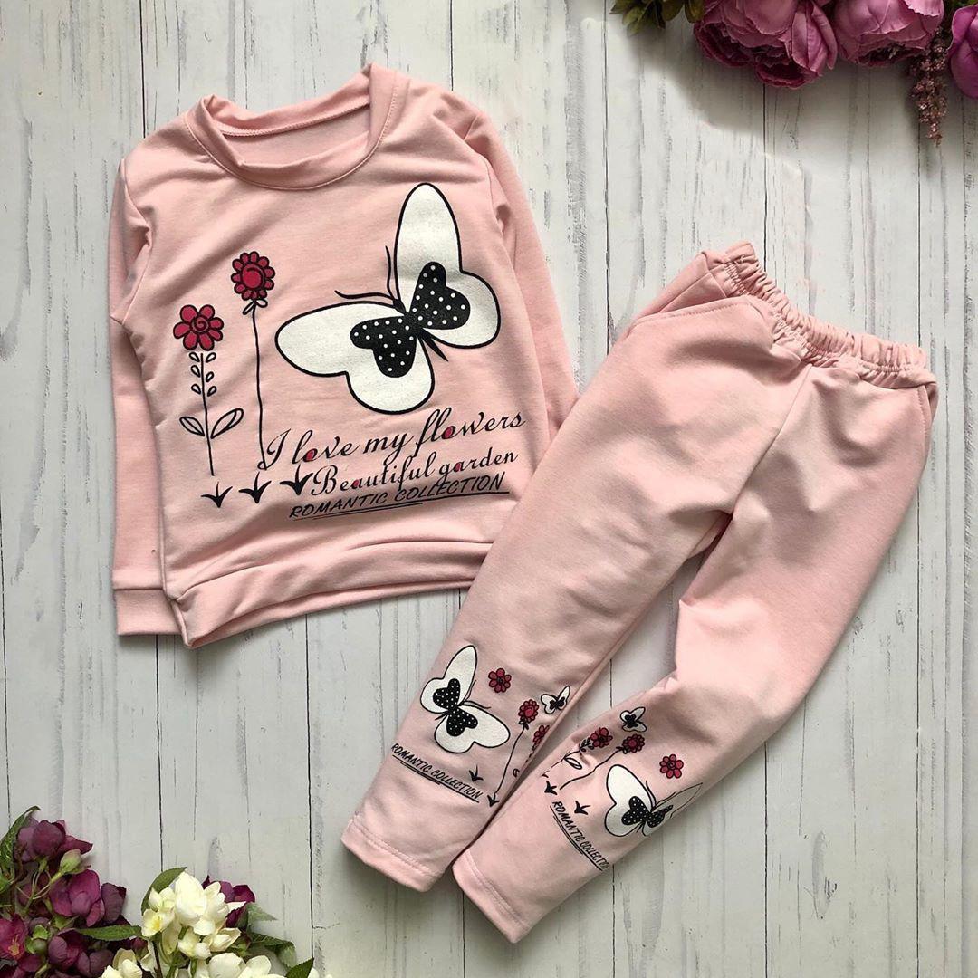 Детский спортивный костюм для девочки с принтом розовый BR-S 128 см 64 р. (1193119426)