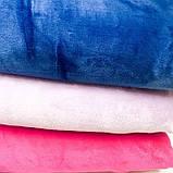 Плед євро, двошаровий однотонний, різних кольорів, розмір 220х240 см, 500/550 грн (ціна за 1 шт +50грн), фото 4