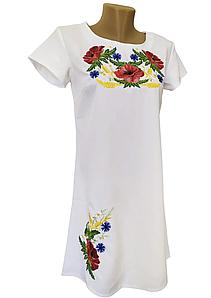 Жіноче літнє плаття вишиванка з коротким рукавом розмір 42 44 46 48