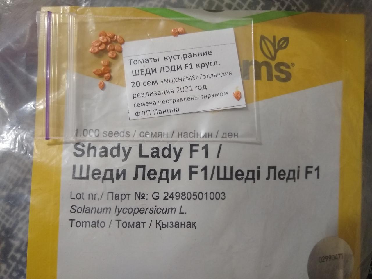 Семена томата раннего гибрид низкорослый Шеди Леди F1, круглый красный 20 семян Nunhems Голландия