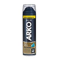 Гель для бритья для жесткой щетины ARKO Men Shaving Gel Gold Power 200 мл