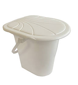 Ведро туалетное Консенсус БЕЛОЕ 17 л