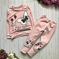 Детский спортивный костюм для девочки с принтом розовый 1193119426