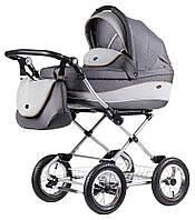 Детская коляска для новорожденных 2 в 1 всесезонная классическая Roan Emma (12 sery) E60 Серый - Серый (узор)