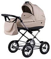 Детская коляска для новорожденных 2 в 1 универсальная классическая Roan Emma (12 sery) E18 Бежевый