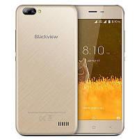 Смартфон бюджетный золотистый с двойной камерой на 2 сим карты Blackview A7 gold 1/8GB, фото 1